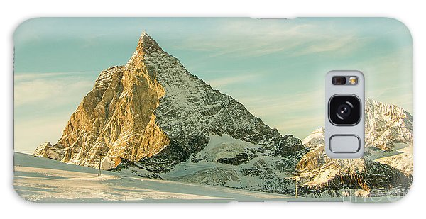 The Sun Sets Over The Matterhorn Galaxy Case