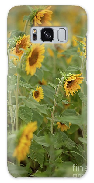 The Sunflower Patch Galaxy Case