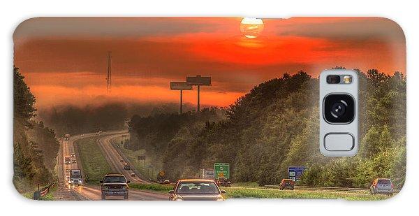 The Sunrise Commute Georgia Interstate 20 Art Galaxy Case