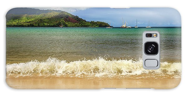 The Surf At Hanalei Bay Galaxy Case