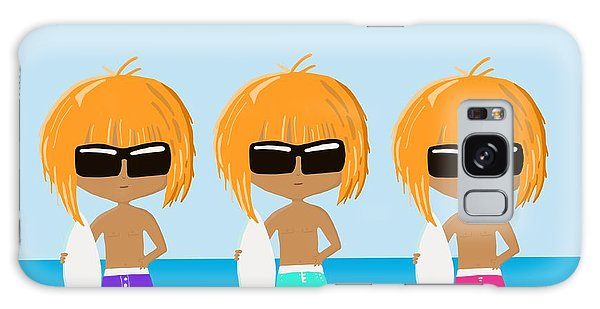 The Surfing Triplets Galaxy Case