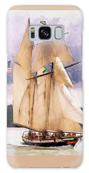 The Tall Ship The Lynx, Fine Art Print Galaxy Case