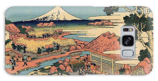 Six Galaxy Case - The Tea Plantation Of Katakura In The Suruga Province by Hokusai