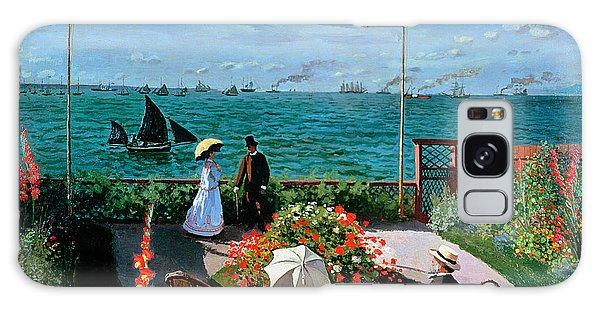 Parasol Galaxy Case - The Terrace At Sainte Adresse by Claude Monet