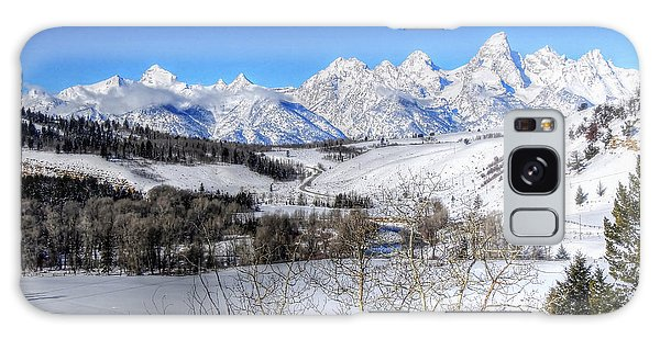 The Tetons From Gros Ventre Valley Galaxy Case