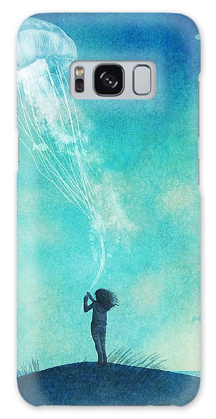 Beaches Galaxy Case - The Thing About Jellyfish by Eric Fan