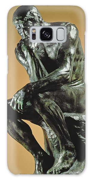 Sitting Nude Galaxy Case - The Thinker by Auguste Rodin