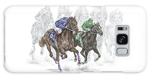 The Thunder Of Hooves - Horse Racing Print Color Galaxy Case by Kelli Swan