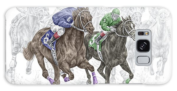 The Thunder Of Hooves - Horse Racing Print Color Galaxy Case