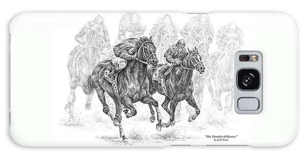 The Thunder Of Hooves - Horse Racing Print Galaxy Case by Kelli Swan