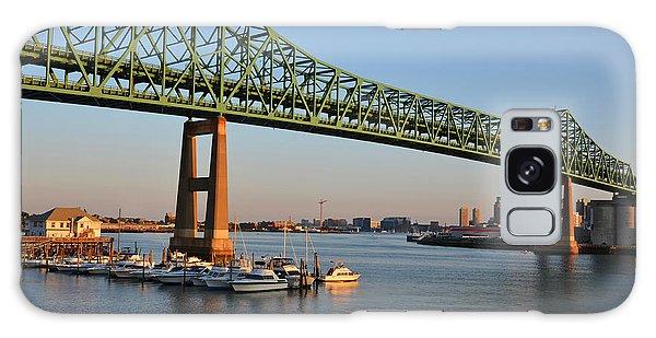 The Tobin Bridge Into The Sunset Chelsea Yacht Club Galaxy Case