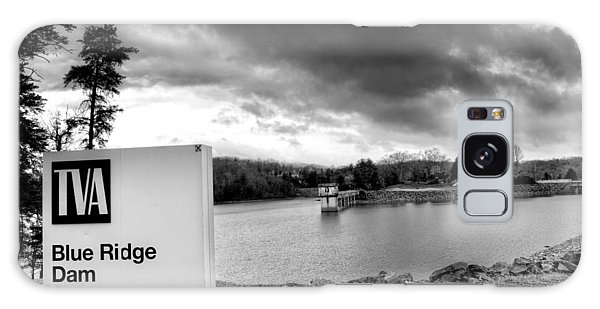 The Top Of Blue Ridge Dam In Black And White Galaxy Case