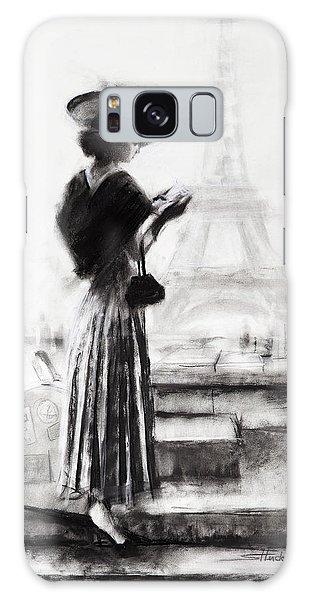 Eiffel Tower Galaxy Case - The Traveler by Steve Henderson