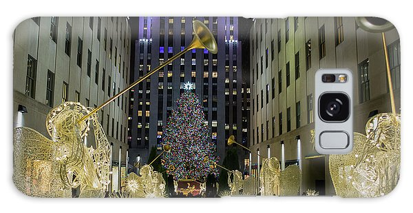 The Tree At Rockefeller Plaza Galaxy Case