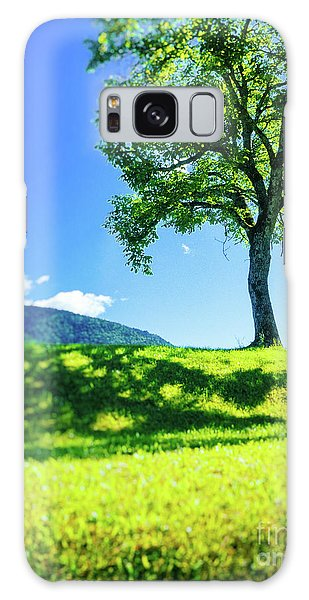 Galaxy Case featuring the photograph The Tree On The Hill by Silvia Ganora