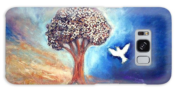Galaxy Case featuring the painting The Tree by Winsome Gunning