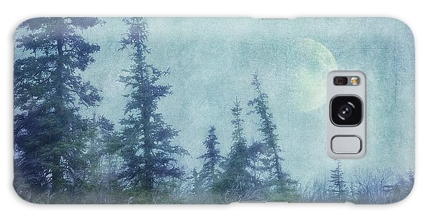Boreal Forest Galaxy Case - The Trees And The Moon by Priska Wettstein