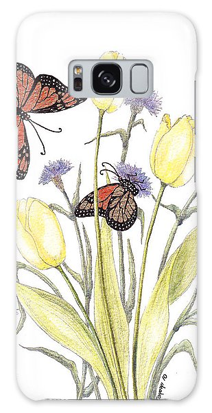 The Tulip And The Butterfly Galaxy Case by Stanza Widen