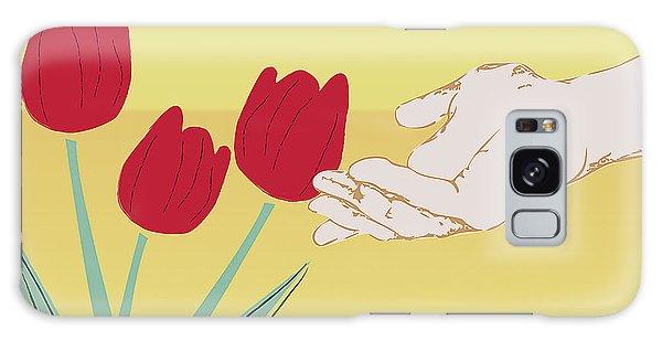 The Tulips Galaxy Case by Milena Ilieva