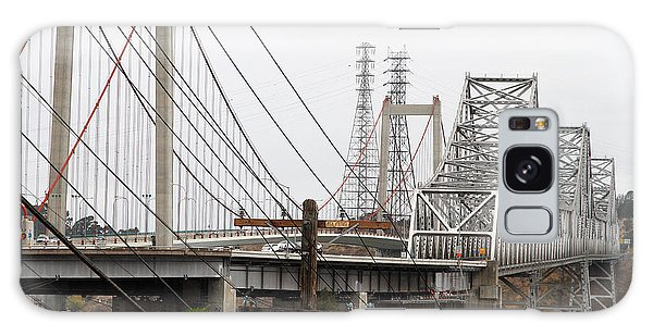 Galaxy Case featuring the photograph The Two Carquinez Bridges At Crockett And Vallejo California . Aka Alfred Zampa Memorial Bridge . 7d8919 by Wingsdomain Art and Photography