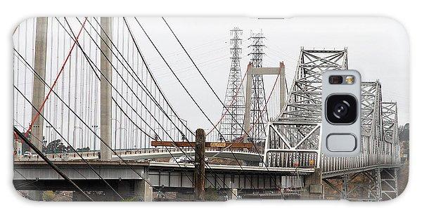 The Two Carquinez Bridges At Crockett And Vallejo California . Aka Alfred Zampa Memorial Bridge . 7d8919 Galaxy Case