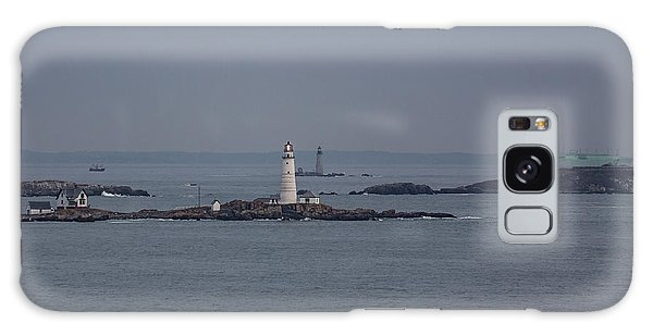 The Two Harbor Lighthouses Galaxy Case by Brian MacLean