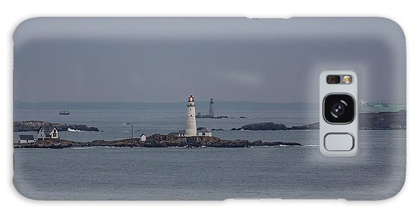 The Two Harbor Lighthouses Galaxy Case