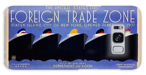 The United States' First Foreign Trade Zone - Vintage Poster Vintagelized Galaxy Case