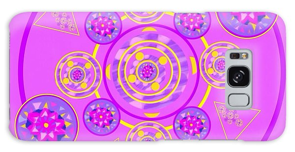 The Art Of Gandy Galaxy Case - The Universal Spin Of Violet by Joan Ellen Gandy