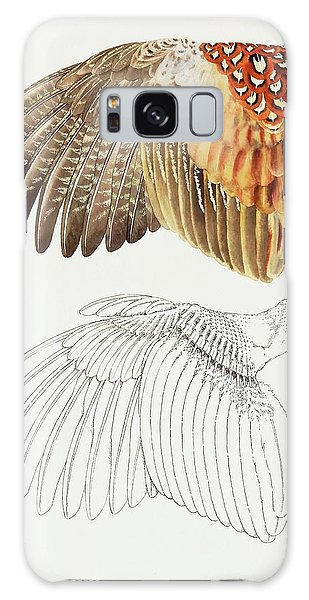 The Upper Side Of The Pheasant Wing Galaxy Case