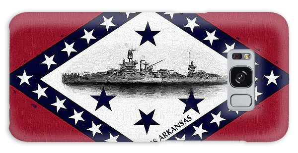 Galaxy Case featuring the digital art The Uss Arkansas by JC Findley