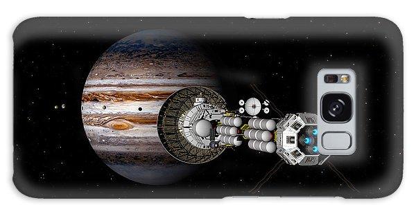The Uss Savannah Nearing Jupiter Galaxy Case by David Robinson
