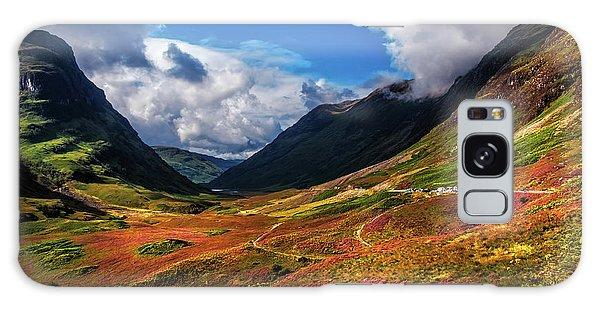 The Valley Of Three Sisters. Glencoe. Scotland Galaxy Case