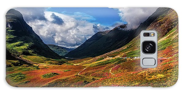 The Valley Of Three Sisters. Glencoe. Scotland Galaxy Case