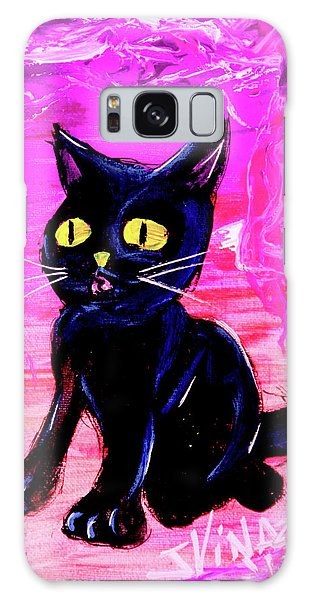 Galaxy Case featuring the painting The Vampire Cat Baby Lestat by eVol i