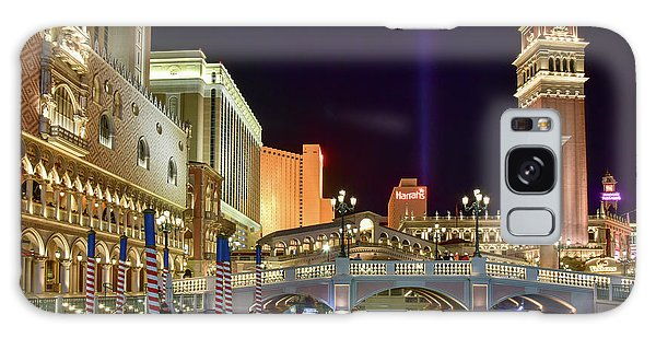 The Venetian Gondolas At Night Galaxy Case