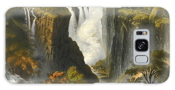 Chasm Galaxy Case - The Victoria Falls From Western End Of Chasm  by Thomas Baines