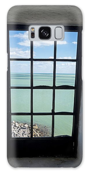 The View From The Lighthouse Window Bill Baggs Lighthouse Key Biscayne Florida Galaxy Case