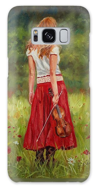 Violin Galaxy Case - The Violinist by David Stribbling
