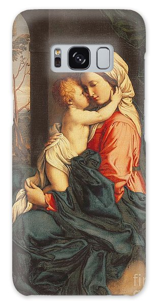 Joseph Galaxy Case - The Virgin And Child Embracing by Giovanni Battista Salvi