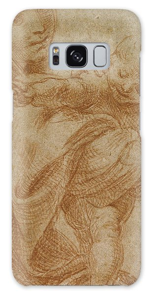 Pen And Ink Drawing Galaxy Case - The Virgin And Child by Lodovico Carracci