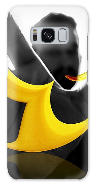 Galaxy Case featuring the digital art The Virtual Reality Banana by ISAW Company