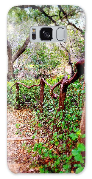 Handrail Galaxy Case - The Crooked Rail - Descanso Gardens by Glenn McCarthy Art and Photography