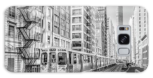 The Wabash L Train In Black And White Galaxy Case