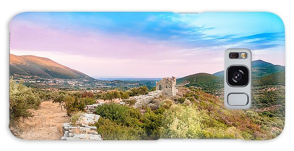 The Walls Of Ancient Messene - Greece. Galaxy Case by Stavros Argyropoulos