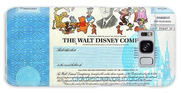 Walt Disney Galaxy Case - The Walt Disney Company Stock Cert by David Lee Thompson