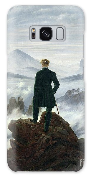 Galaxy Case - The Wanderer Above The Sea Of Fog by Caspar David Friedrich