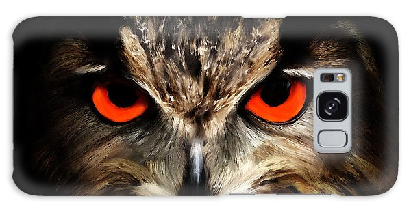 The Watcher - Owl Digital Painting Galaxy Case