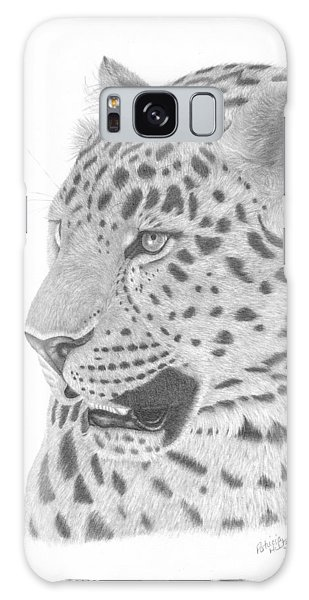 The Watchful Leopard Galaxy Case