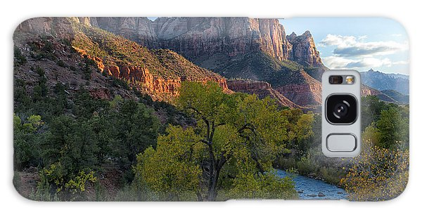 The Watchman And Virgin River Galaxy Case by Sandra Bronstein